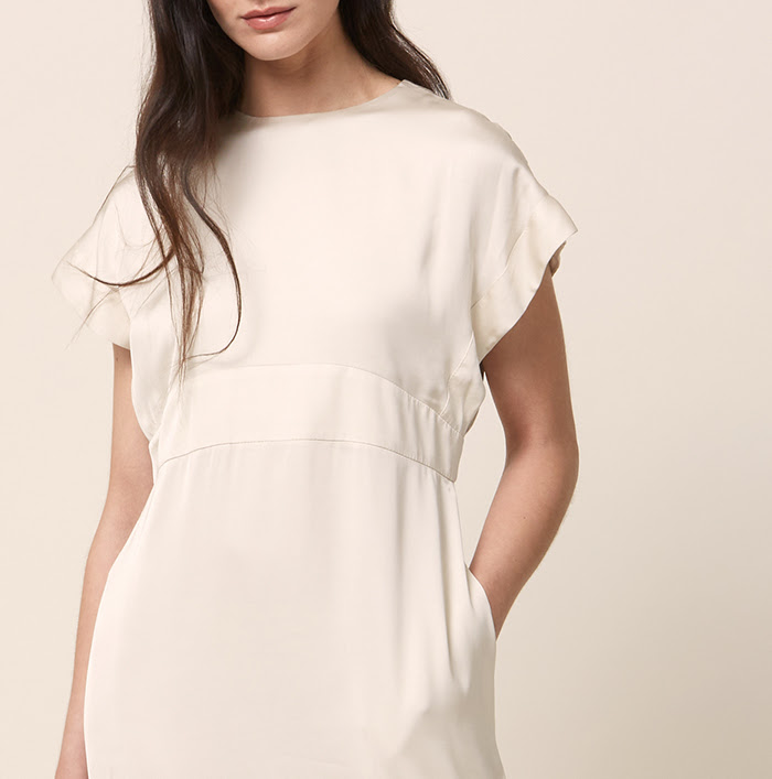 SHIV DRESS IN IVORY