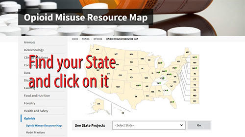Opioid Misuse Resource Map graphic
