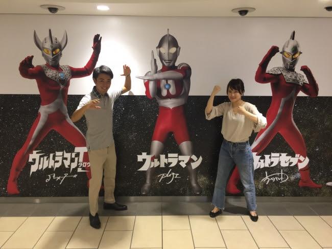 東池袋駅地下通路 (C)円谷プロ