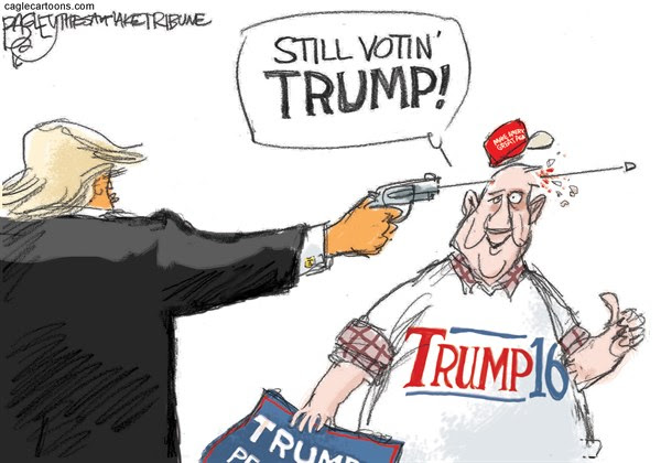 Image result for pax on both houses, trump university cartoon still voting for him