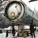 In 1997, soldiers prepared to destroy a missile housed at a former Soviet base in Ukraine. After the Soviet Union's breakup, Ukraine gave up its portion of the old Soviet nuclear arsenal.
