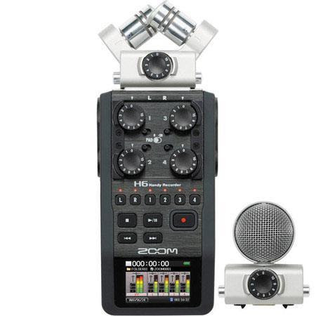 H6 Handy Recorder with Interchangeable Microphone System, Four XLR/TRS Inputs