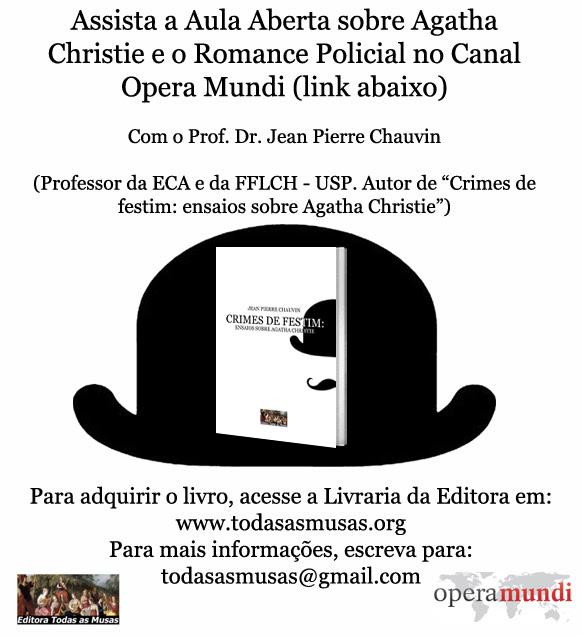 Aula Aberta de Jean Chauvin sobre Agatha Christie disponível online
