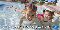 The figure above is a photo promoting Healthy and Safe Swimming Week 2017.