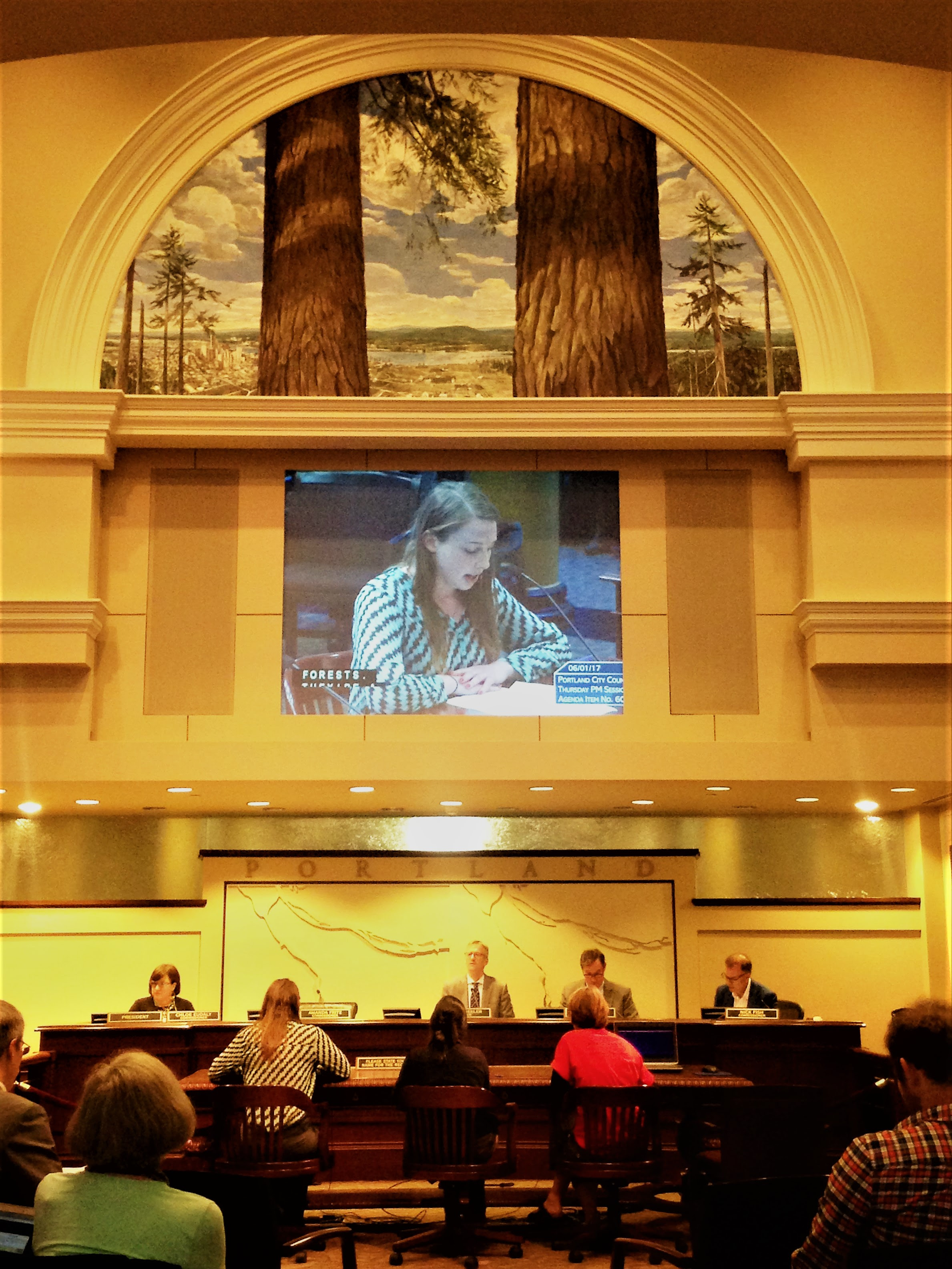 Bark volunteer testimony at Portland City Hall