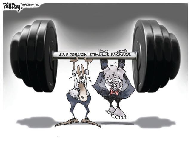 STIMULUS, $1.9 TRILLION, ECONOMY, COVID, GOP, DEMOCRATS