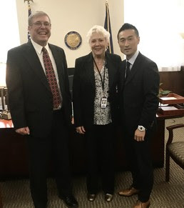 Sec Clarno, Deputy Vial, and Mr. Takayuki Sato