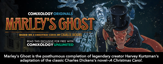 Marley's Ghost is the posthumous completion of legendary creator Harvey Kurtzman's adaptation of the classic Charles Dickens's novel—*A Christmas Carol*.
