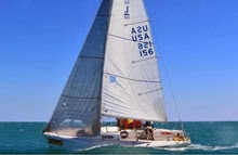 J/80 sailing upwind off Key West, FL