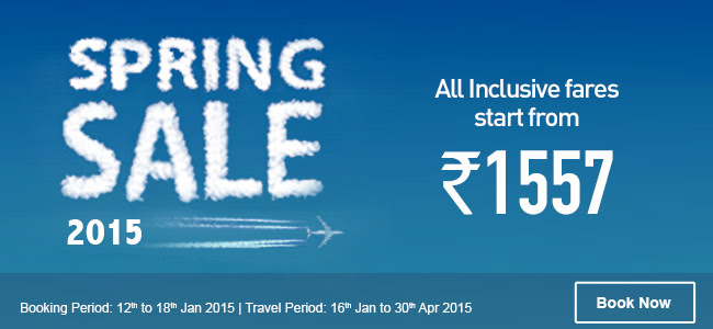 2-Day Sale: Airfares starting at Rs. 1,576 All-In