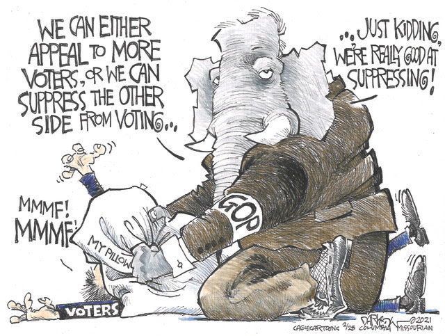 VOTERS, VOTE, VOTING, SUPPRESS, SUPPRESSING, GOP REPUBLICANS