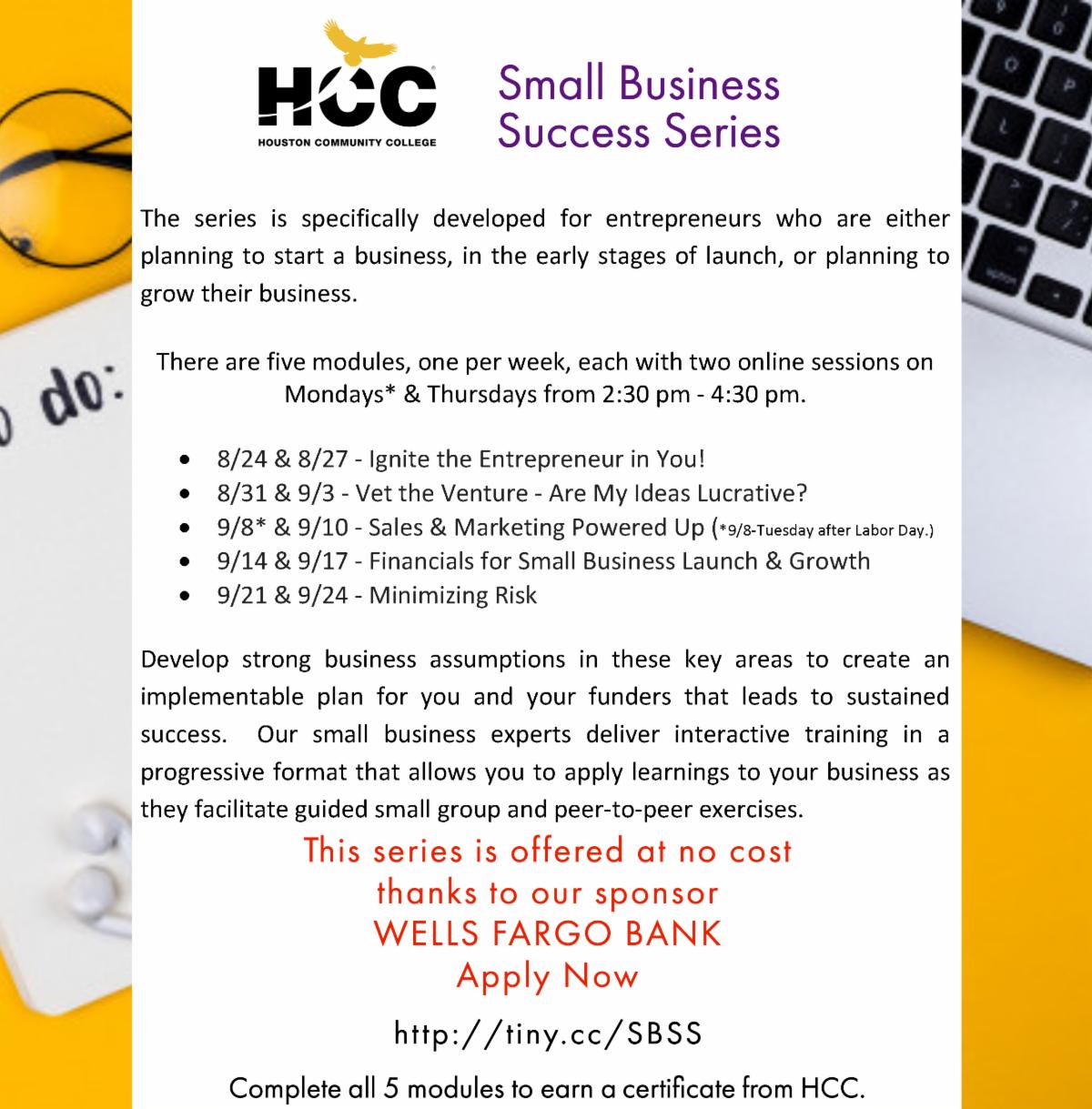 HCC - Office of Entrepreneurial Initiatives - September 2020 Newsletter 11
