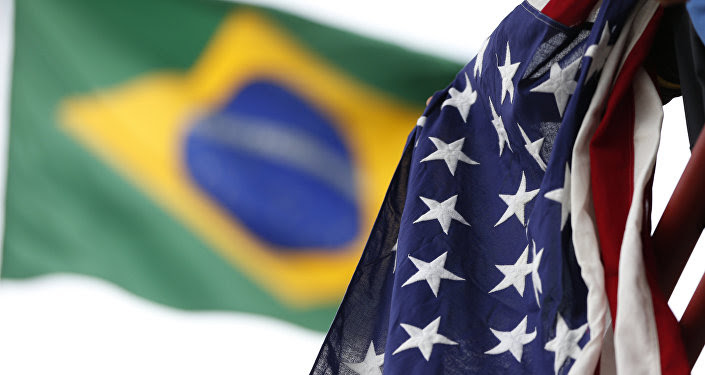 Banderas de Brasil y EEUU