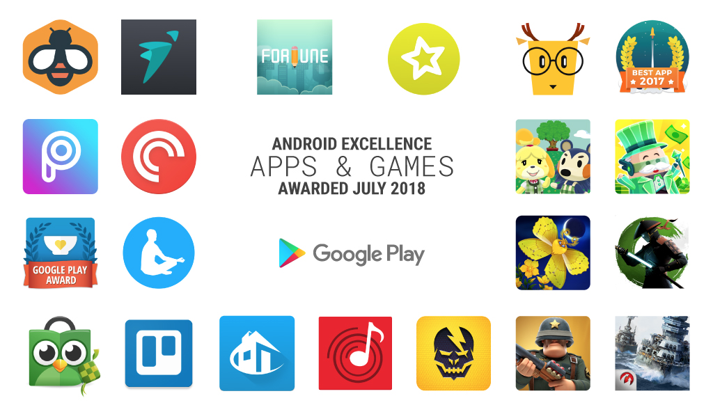 Nouvelles collections d'excellence Android