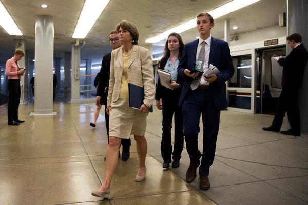 Senator Lisa Murkowski of Alaska in Washington on Wednesday.