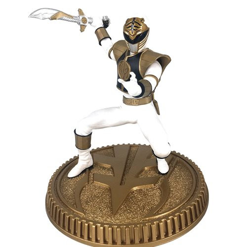 Image of Mighty Morphin Power Rangers White Ranger 1:8 Scale Statue - MARCH 2021