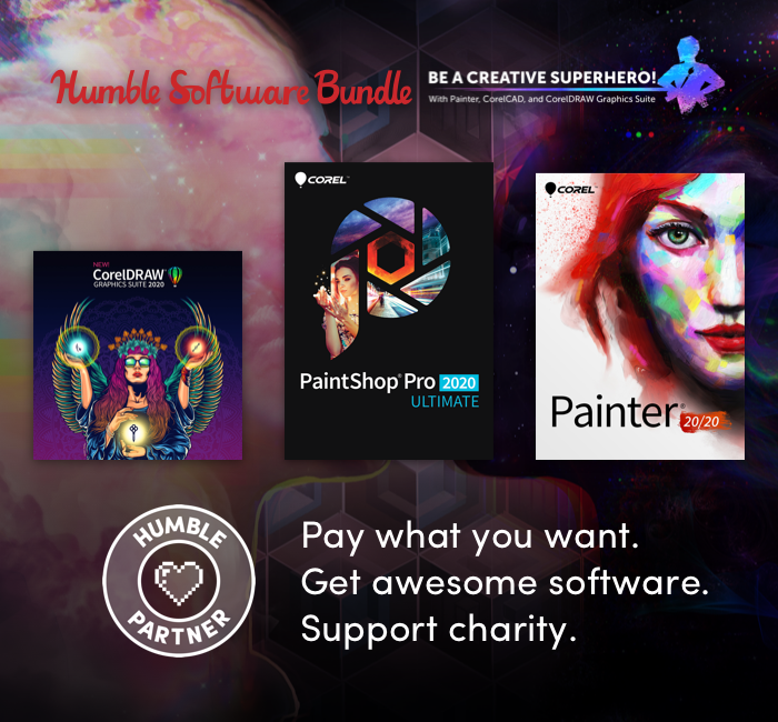 Humble Software Bundle: Be a Creative Superhero! With Painter, CorelCAD and CorelDRAW Graphics Suite