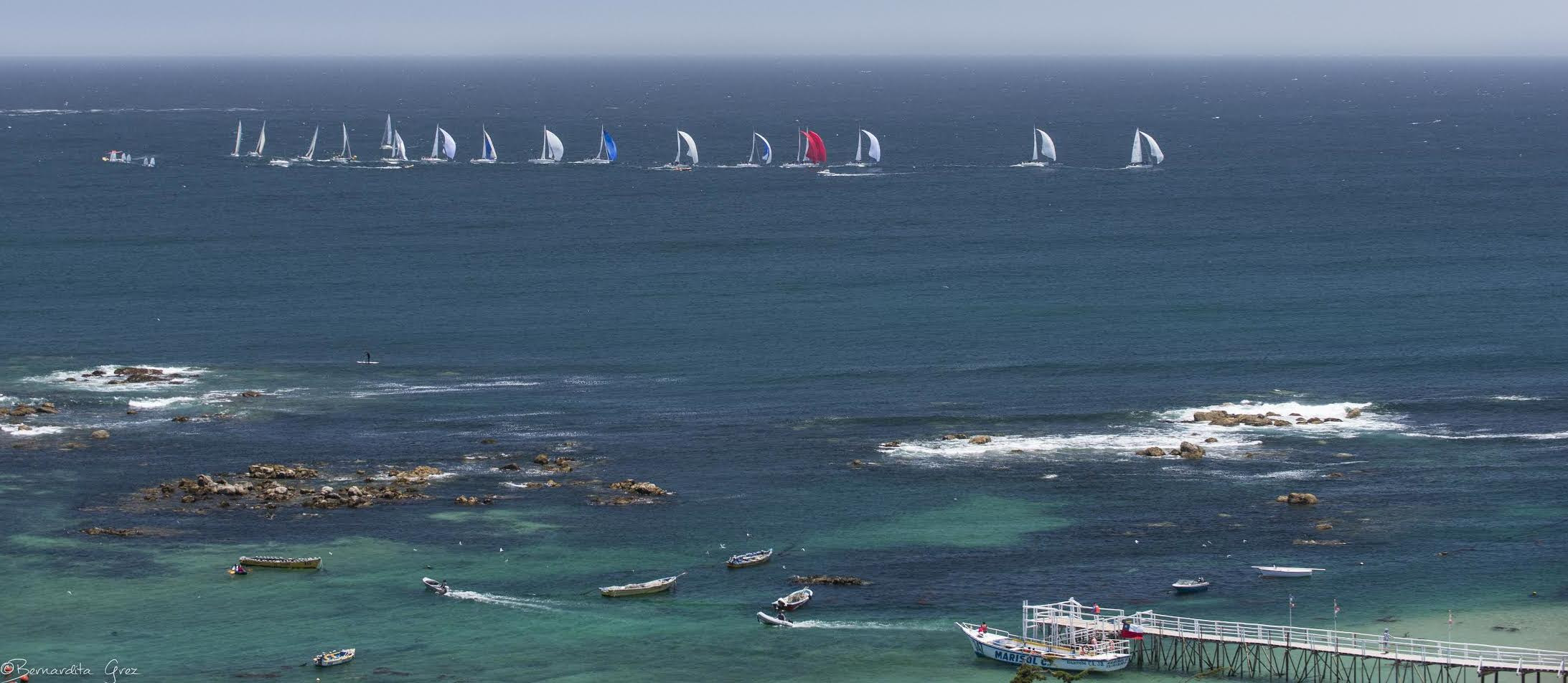 J/105s sailing off Algarrobo, Chile