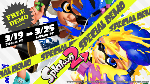 The Splatoon 2 Special Demo is available starting today in Nintendo eShop for Nintendo Switch. (Grap ...