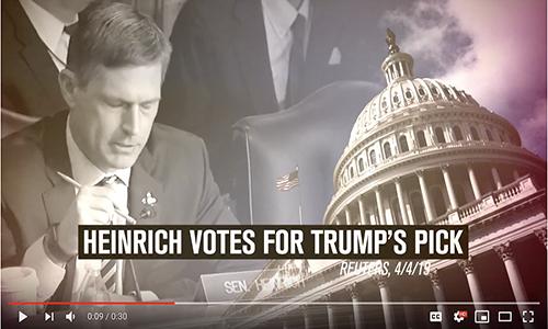 Senator Heinrich Sides With Trump