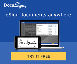 FREE 30 day trial of DocuSign.