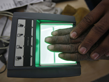 A villager scanning fingerprint for Aadhaar. Reuters file photo