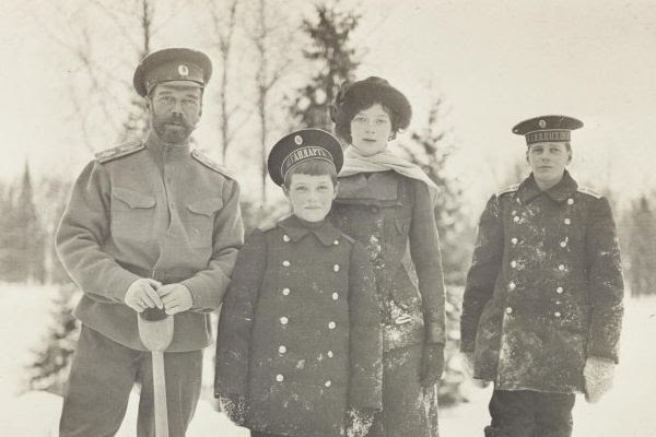 Picture of Tsar Nicholas II and family