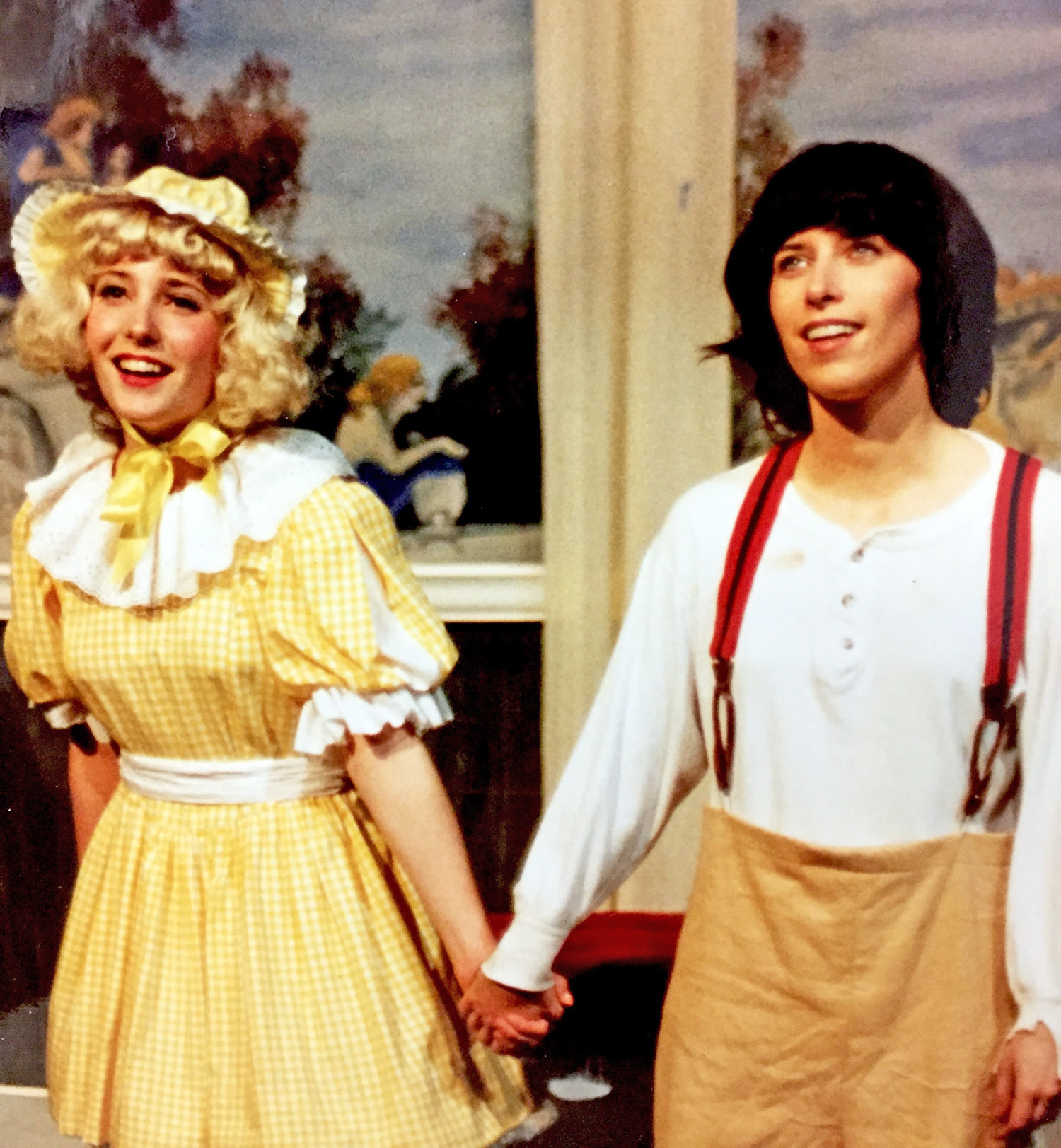 Sally Ashton Forrest appearing in Gypsy (right), later became Company Manager and resident choreographer, with fellow cast member and longtime Company stage veteran Joyce MacPhee, 1992
