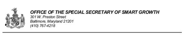Office of Special Secretary of Smart Growth masthead