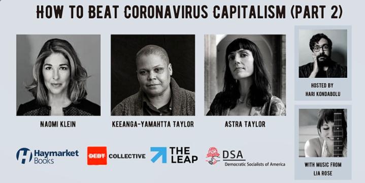 How to beat coronavirus capitalism (Part 2) graphic.