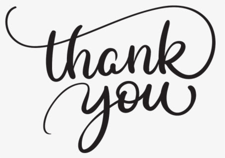 Transparent Thank You Png - Calligraphy Thank You Script , Free Transparent  Clipart - ClipartKey