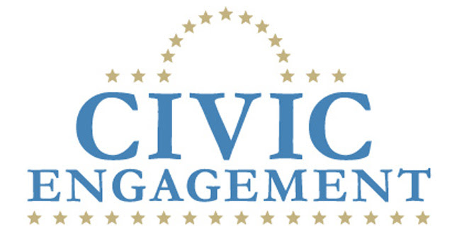 Graphic saying civic engagement