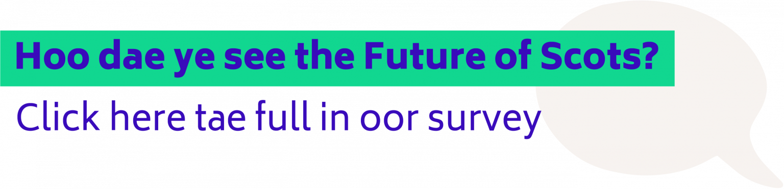 Hoo dae ye see the Future of Scots? Click here tae full in oor survey