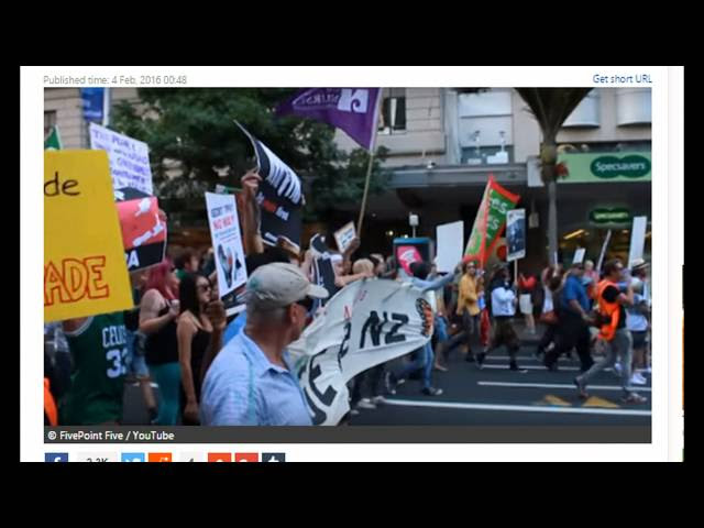 Breaking: 12 Countries Sign TPP, Protests Erupt In the Streets of Auckland  Sddefault