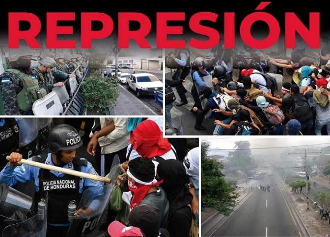 Honduras: Balas, detenciones, toletazos y gases contra población que reclama no privatizar educación y salud