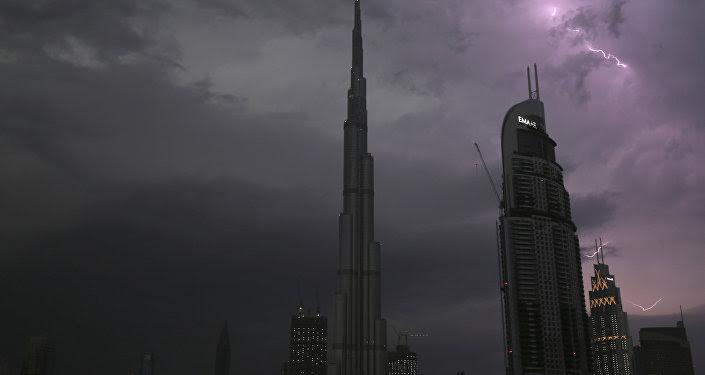 El rascacielos Burj Khalifa en Dubái
