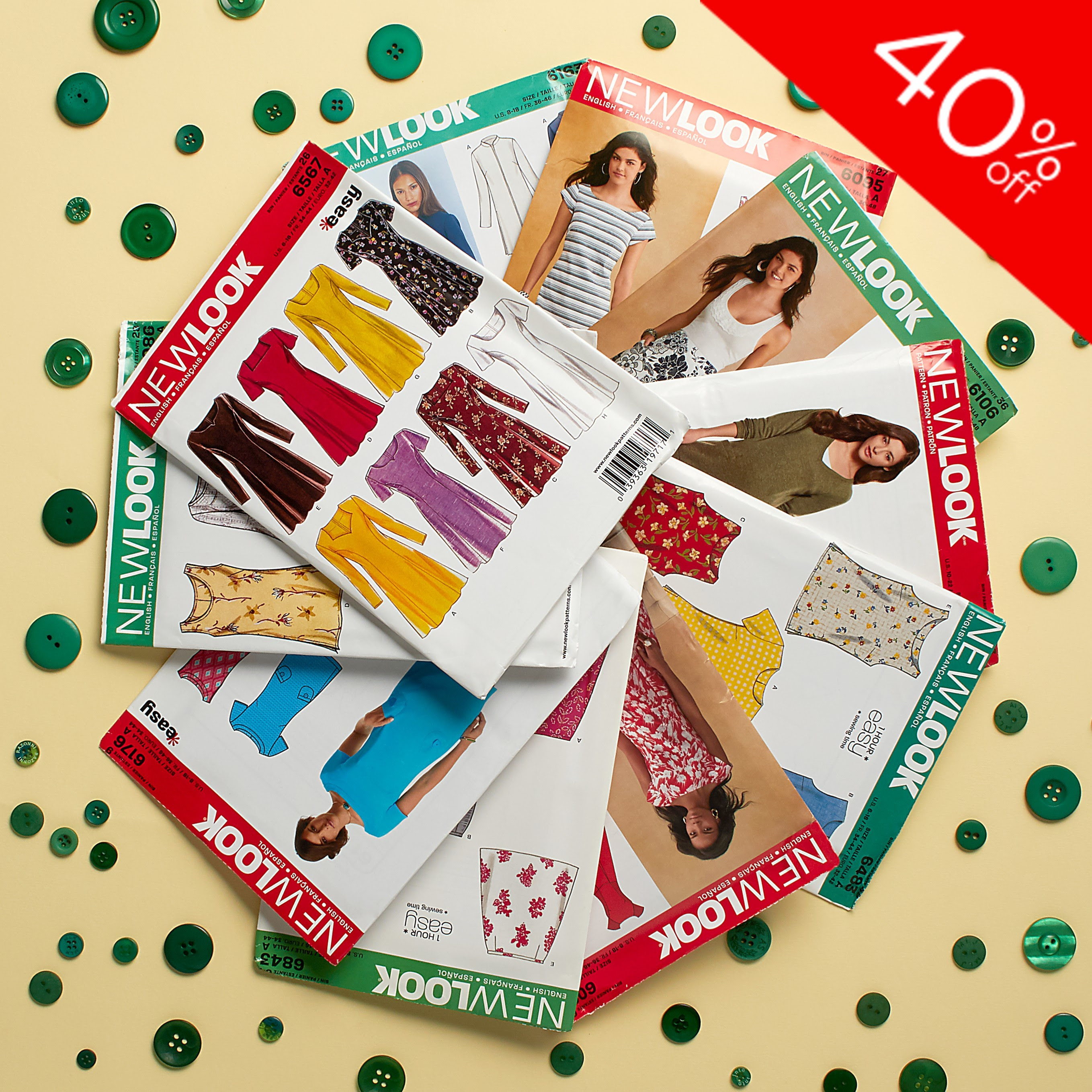 Save 40% off all New Look Patterns