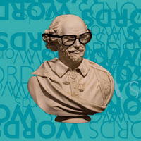 Image of Shakespeare Bust with glasses