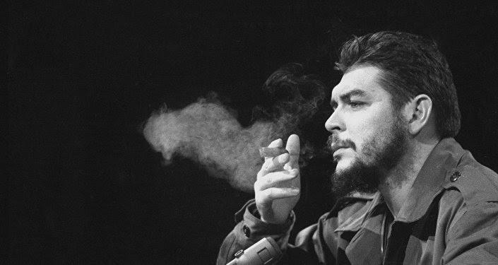 Latin American revolutionary Ernesto Che Guevara is seen in 1964.