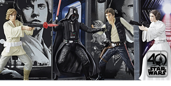 "STAR WARS 3.75"" 40TH ANNIVERSARY DIECAST FIGURES"