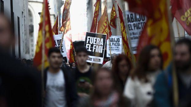 Protesta contra o FMI na Argentina