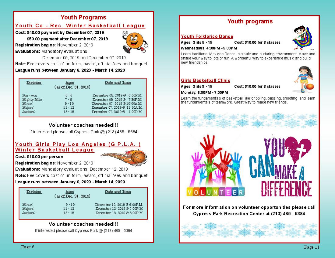 Cypress Pk Rec Ctr Winter Schedule Page 6