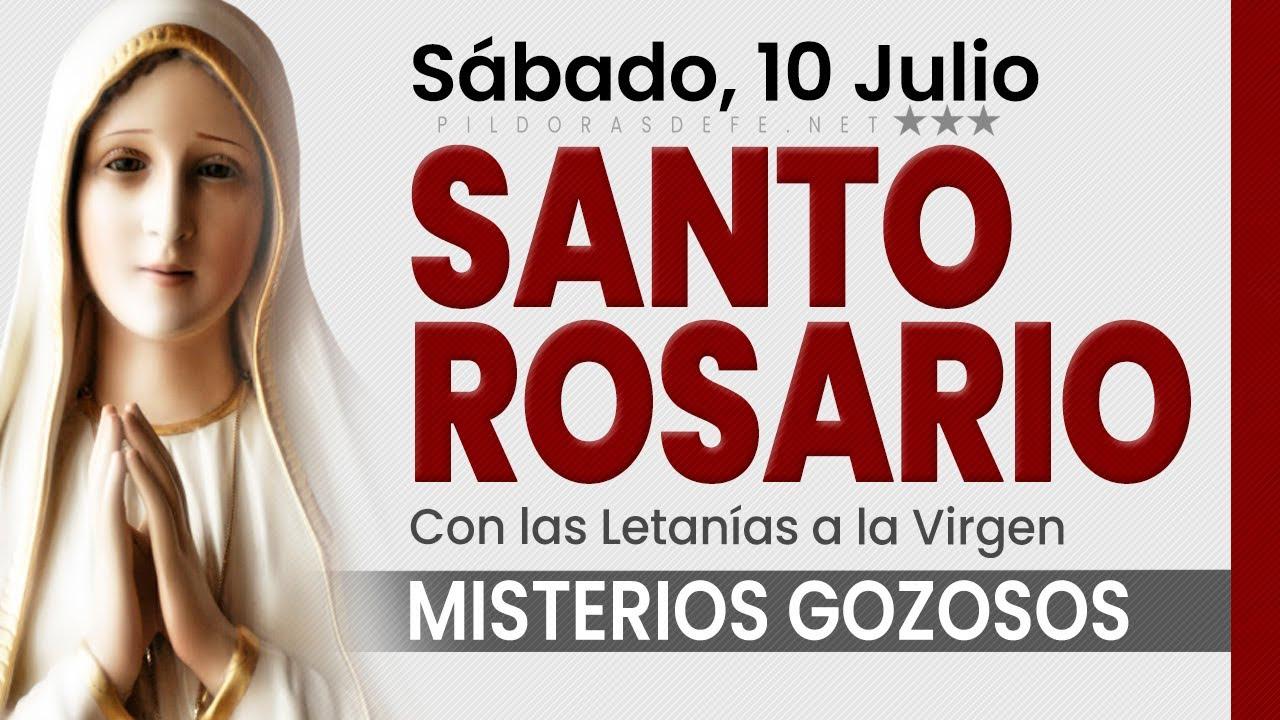 Rosario de hoy SÁBADO. Misterios Gozosos con las LETANÍAS a María