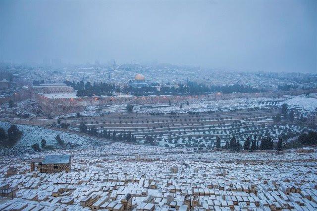 Nevada en Jerusalén en febrero de 2021