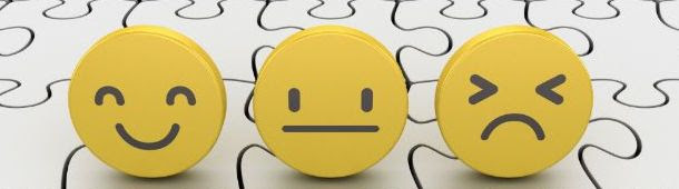 meldpunt banner met drie smileys, blij, neutraal en boos