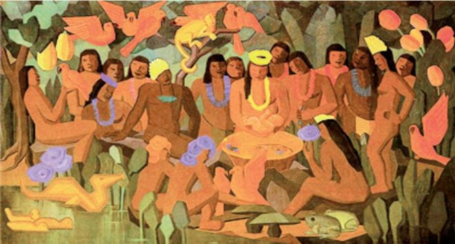 O batizado de Macunaíma by Tarsila do Amaral (1883-1973), artista paulista