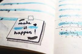 'Make it happen' written in a calendar