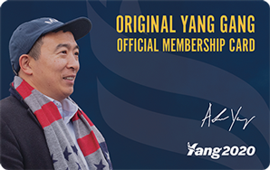 Original Yang Gang Official Membership Card