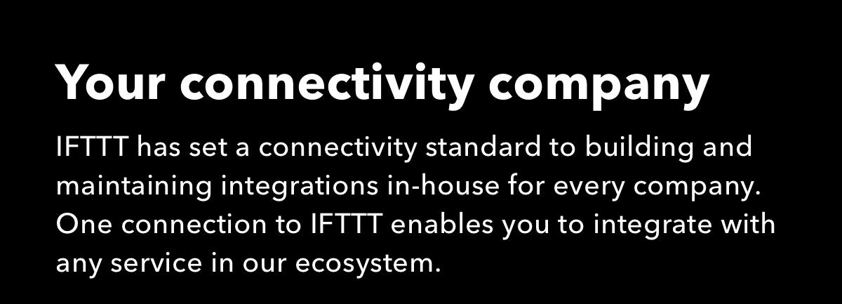 Work with IFTTT