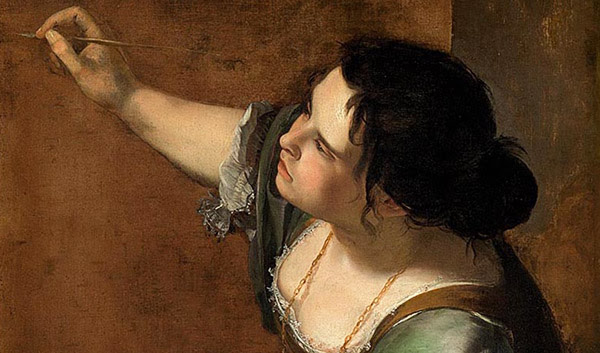 Artemisia Gentileschi, 'Self Portrait as the Allegory of Painting (La Pittura)', about 1638-9. Royal Collection Trust / © Her Majesty Queen Elizabeth II 2020